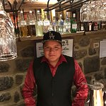 Best Bartender In Town Who Makes The Best Pisco Sour! Had to give him my LA hat!