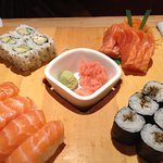 Sushi & sashimi - really good quality but very long wait (about 30mins)