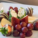 chocolate covered strawberries and cheese