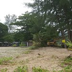 Beach area complete with the digger next door (idle at last!)