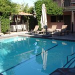 Their heated pool, with overhead mist, is accompanied by a nice jacccuzzi; right outside your ro