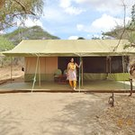 Typical tent at Porini Amboseli camp
