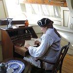Aboard the replica ship 'Elena'