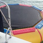 Water Trampoline for more fun once you get to Island