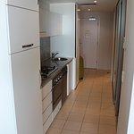 Hall, kitchen area