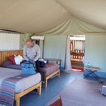 Inside our tent at Porini Lion Camp