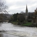 The weir and flood defences