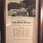 Shuttle service schedule. If you go to Batu Ferringhi, it's useful!