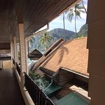 front door entrance to our room...can see Tonsai Bay!!!