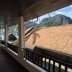 front door entrance to our room...can see Tonsai Bay!!