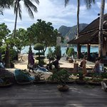 Lobby/main entrance area with Tonsai Seafood restaurant opposite...right on Tonsai Bay!!!!