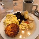 When you get older your second plate looks different (lol). Great breakfast buffet a wonderful s