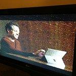Tres mauvaise réception, la télé est branché avec un fil de cable