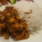 Chickpea dish with rice