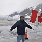 The National Flag @ The Columbian Glacier.