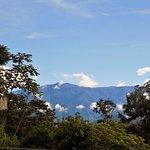 Vista del Cerro Chirripo, la montaña mas alta de Costa Rica, vista desde la recepcion.