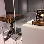 China. 19th Century. Game Table/Box, Wood covered in black lacquer, painted in gold