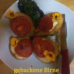 gebackene Birne