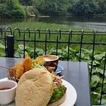 Food and view of the lake