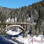 Don't miss going over Rainbow Bridge on Hwy 55.  Clear roads, beautiful scenery,.l