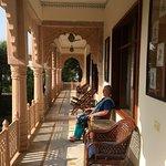 Sunny morning verandah