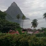 View from veranda. Pitons.