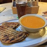 Soup & toasties, lovely.