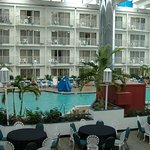 Inside Princess Royal Hotel enclosed heated area w/pool, sauna, whirlpool, game machines, dining