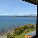 Osorno and Calbuco volcanoes and Lago Llanquihue