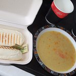 Takeaway soup.