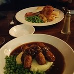 traditional bangers and mash
