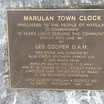 Plaque for Marulan Town Clock