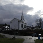 the Stowe comunity church yaken from the walk