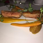"""Roasted Duck Fillet, Apple and Calvados Marmalade, """"Marco Polo"""" Pepper Sauce"""