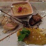 Trilogie de Foies Gras Maison (crème brûlée – Terrine – Poêlée)