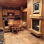 Living/Dinig area in a two bedroom cabin.