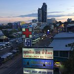 6th floor. View of Pattaya Sai Song (2nd Road)