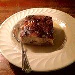 Bread pudding with bourbon glaze