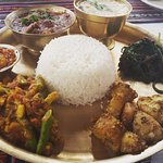 A plate of Nepali thali.... the most wholesome meal...