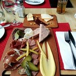 Charcuterie board... amazing variety