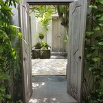 Entrance doors to private courtyard