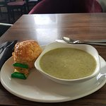 Soup and a cheese scone