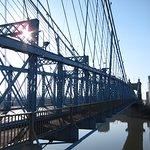 Roebling Suspension Bridge, Cincinnati.