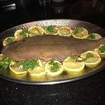 Whole Dover sole at Bruno's is the specialty of the house great us usual this fish I eat is prob