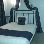 chambre à coucher spacieuse avec lit et ciel de lit