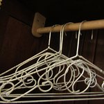 Our closet and hangers