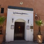 Entrance to the hotel. Inside it is an oasis in a busy area of Marrakech