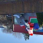 Thai Plate Christmas display - Santa on an elephant!