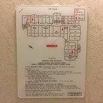 Emergency (fire) escape plan/map.