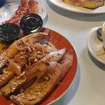 Twice Baked French Toast with Cheese Grits on the side